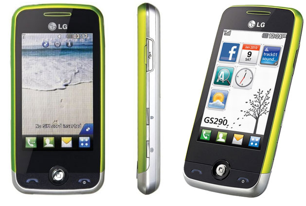LG GS290 Cookie fresh silver green