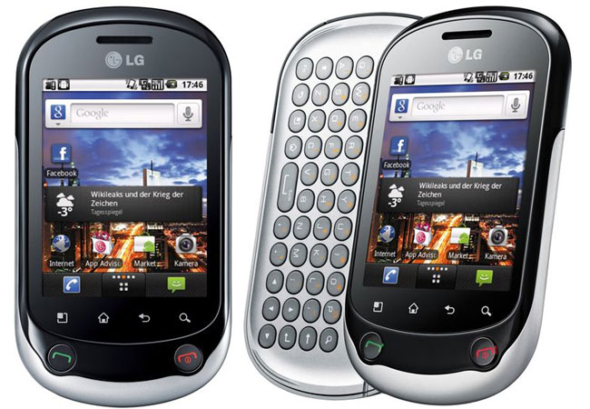 LG Optimus Chat silver
