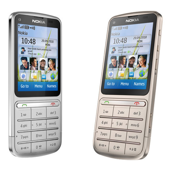 Nokia C3-01 Touch Type silver
